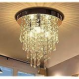 ثريا جانييد البلورية الصغيرة ، مصباح إضاءة السقف البلوري المتوهج العصري، ثريا ب3 أضواء للممشى، الرواق، الممر، غرفة المعيشة، غ