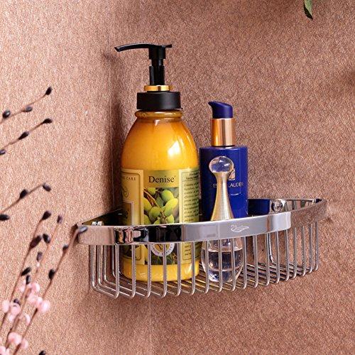 Acero inoxidable baño anaqueles-cuarto de baño/ cesta de la cocina/ cesta triangular-A