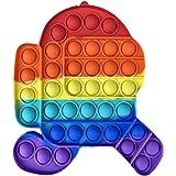 iCOOLIO Pop it Fidget Toy Set, popit Among us, poppit Antistress, Fidget Toys Set Multicolor, Push Pop Bubble, figet spielzeu