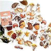 Swn-Sntshkut 46Pcs/pack Kawaii Sticker Cute Animals Mini Paper Sticker Decoration DIY Ablum Diary Scrapbooking Label Sticker