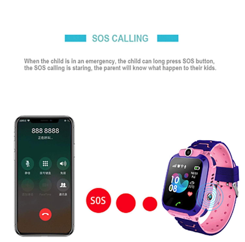 linyingdian Smartwatch Niños, Reloj Inteligente Niños con 1.44 Pantalla táctil Completa, LBS localizador Linterna, Llamada, SOS, Cámara, Juegos y Despertador, Regalo para Niño Niña de 3-12 años 3