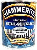 1 Liter Hammerite Metallschutzlack silbergrau Hammerschlag