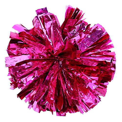 Tbest Cheerleading Pompons Poms, Cheerleader Pom Poms Pompoms Metallfolie Cheer Kostüm Zubehör für Party Dance Sport