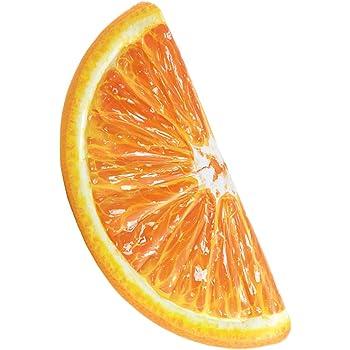 Intex 58763 - Materassino Spicchio di Arancia - Stampa Realistica, Arancione,178 x 85 cm