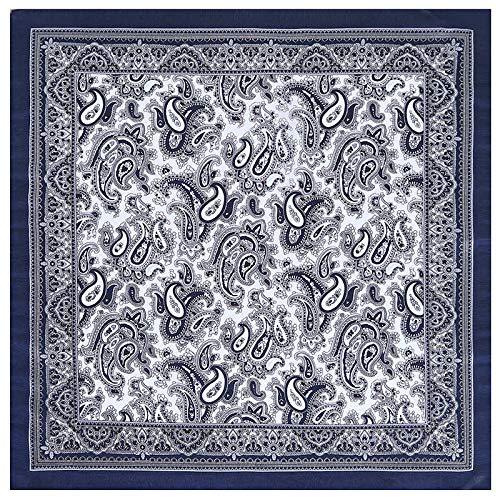 QYYDWJ 53 cm Platz Schals Frauen Marke Silk Satin Paisley Bandanna Stirnband Krawatte Band Halstuch Turban 1 Paisley-satin-band