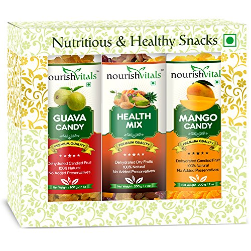 Nourish Vitals Guava + Health Mix + Mango Dried Fruit (dehydrated Fruits)