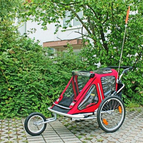 Kinderanhänger Red Loon RB10001 ALU-Light + Jogger für 2 Kinder - 3