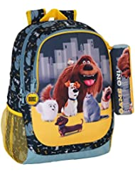 Secret Life of Pets 611613665 - Mochilla Day Pack Adaptable a Carro, Color Amarillo/Gris