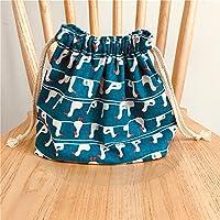 Preisvergleich für Yudanwin Leinwand-Lunch-Tasche Cartoon süße Katze Kordelzug Lunchpaket Isolierung Pack (Kleine weiße Ente)