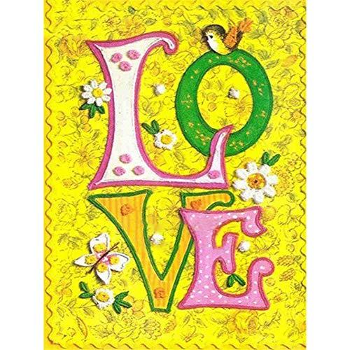 Nolvam Diamond Painting Love Cross Stitch DIY Diamond Embroidery Cartoon Gift Round Drill Wedding Decoration Valentine's Day Gifts
