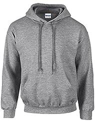 Gildan Heavy Blend Erwachsenen Kapuzen-Sweatshirt 18500 Sport Grey, XXL
