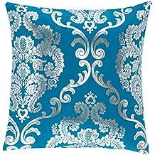 Sancarlos Elegante Cojín, Poliéster, Azul, 45x45