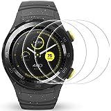 AFUNTA Protector de Pantalla para Huawei Watch 2, 3 Pack de películas de protección de Vidrio Templado Anti-Scratch Cubierta