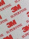 3M-Soft Pads 03810Superfine (P400-P500, Después De Lazos de curvas, los bordes redondeados, 20unidades)
