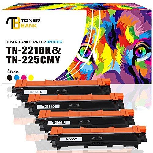 Preisvergleich Produktbild 4-Packung Toner Bank Toner Kartuschen Kompatibel mit TN-241 TN-245 TN-241BK TN-245C TN-245Y TN-245M toner für brother 3142cw 3152cdw für Brother HL-3140CW 3170CDW MFC- 9340CDW DCP-9020CDW, Schwarz-2500, Cyan/Magenta/Gelb-2200