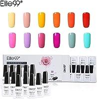 Elite99 Esmalte Semipermanente UV LED 12pcs Kit Uñas de Gel Pintauñas Esmalte de Uñas Soakoff Manicura Color de Macarrón...