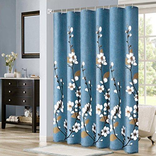 Rideaux de douche Rideau de douche matériau de polyester imperméable à l'eau salle de bains protection de l'environnement suspension douce ne rouille pas (taille : 200×200CM)