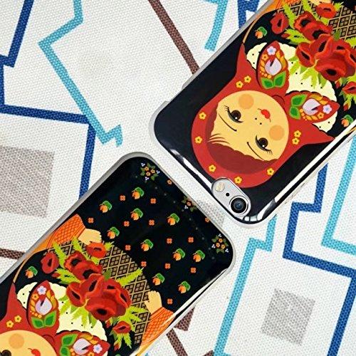 TPU Hülle iPhone 6S, MOMDAD Malerei Drucken Handyhülle für iPhone 6S 6 Schutzhülle Ultra Dünn Silikon Landschaft Mustetr Pattern Case Cover Schutz Kratzfeste Handy Tasche Schale Bumper - Wooden Bridge Dolls_4