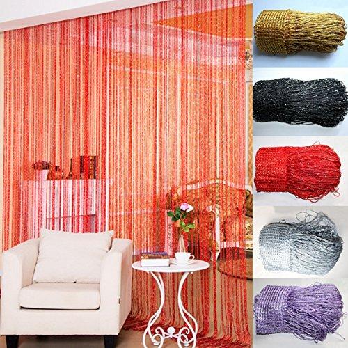 bureze String Line Tür Vorhang Band Raumteiler Fenster Panel Fransen Perlen