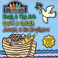 Story Book Cd & Coloring Book: Noah & The Ark, David & Goliath, Joseph & Hi