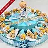 Torta BOMBONIERE Bimbo Cavalluccio Neonato 20 FETTE spedizione Inclusa Battesimo Nascita 1° Compleanno SB *