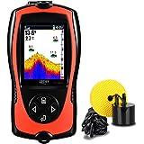LUCKY con Cable Portátil Sonar para Pesca de Mano Portátil Buscador de Peces Monitor en Color Pesca en Hielo Detector de Pece
