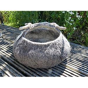 Mini Zylinder grau braun Minihat Damenhut Fascinator Hut