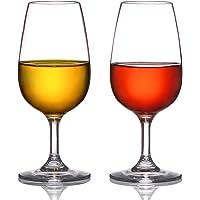 MICHLEY 230ml Verres à Vin, Incassable Tritan-Plastique Buvant Gobelets, sans BPA ni EA, Lavable au Lave-Vaisselle…