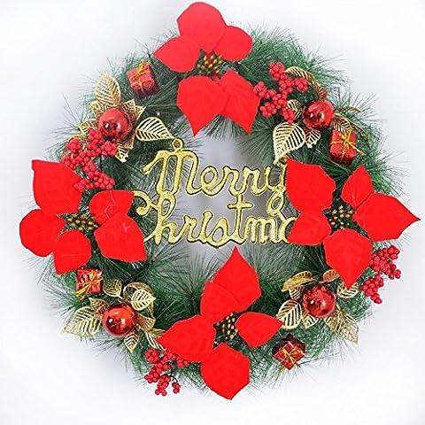 Anno nuovo ghirlande di fiori Natale ghirlande 45cm East Tsing ghirlande tappezzerie oro rosso porte Bolbitis Natale appendiculata ghirlande appeso alla parete oro