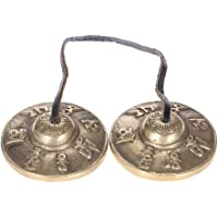 ammoon 2.6in Handcrafted Tibetan Meditation Tingsha Cymbal Bell with Buddhist Lucky Symbols
