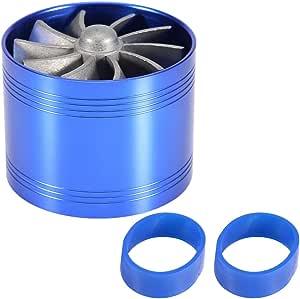 caricatore eccellente turbina a doppia ventola gas Qiilu Turbo per auto Blu turbocompressore risparmio carburante