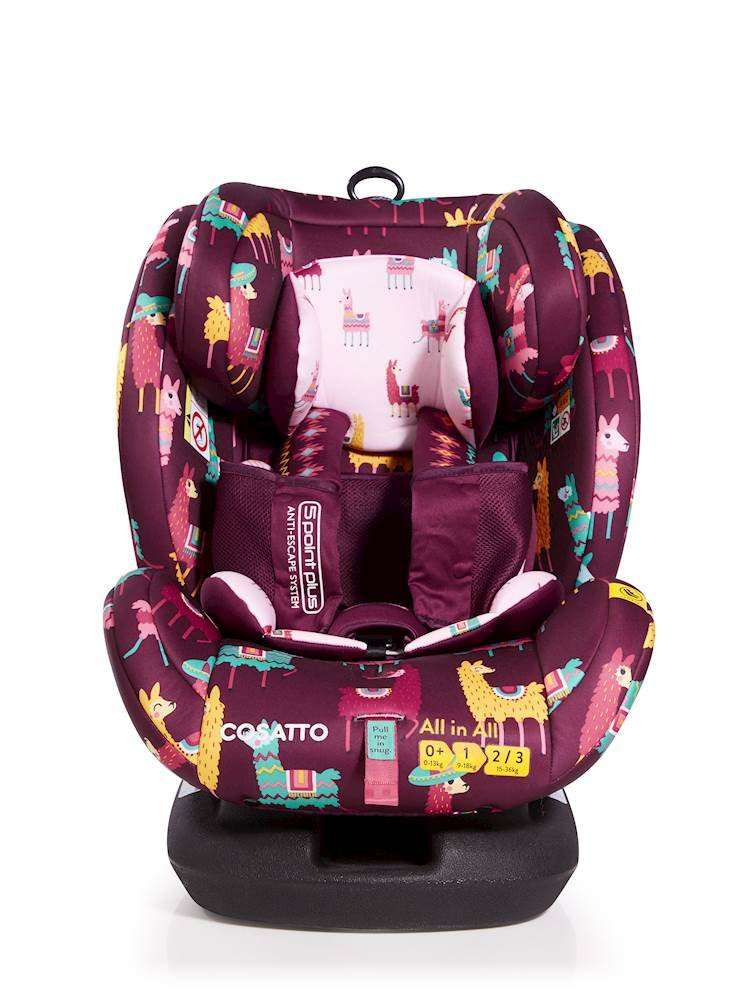 Cosatto All-in-All Group 0+123 Car Seat, Llamarama, 0-36 kg  Cosatto