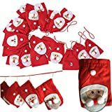 Adventskalender von JEMIDI Kette Weihnachtsmänner XL Kalender zum befüllen selbst füllen (Weihnachtsmänner)