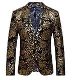 OUYE Herren Anzugjacke 2 Button Premium Sakko Blazer 5X-Large