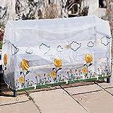 Tri Abdeckhaube für Gartenbank, Abdeckung für Gartenmöbel aus wetterfestem Kunststoff, geeignet für Gartenbank