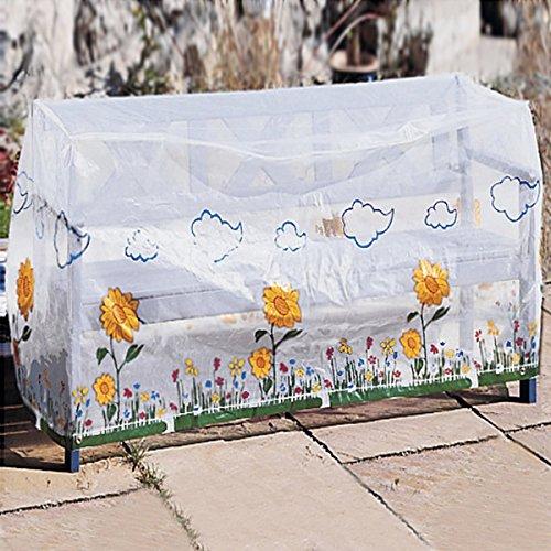 Tri Abdeckhaube für Gartenbank, Schutzhülle Schutzhaube Abdeckplane Abdeckung wetterfestem Kunststoff 157 x 73 x 76 cm