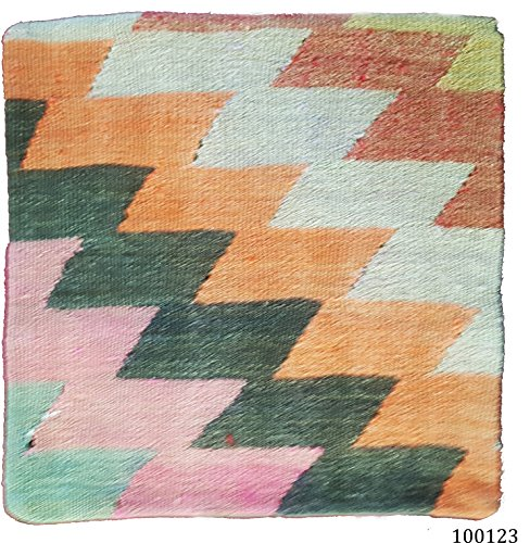 NEU. 100% Wolle Luxus Türkisch Marokkanische bunten Kelim Kissen 40,6cm/40cm Code: 100137