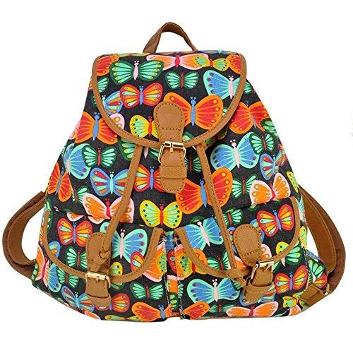 Mädchen-Damen-Freizeit-Rucksack Tier Printed Bag Reiserucksack 5#