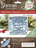 SHEENA Douglass Deck The Halls die-splendid Schneeflocken, Metall, silber, one size