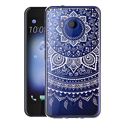 Custodia Cover Per HTC U11 WenJie Dreamcatcher Rose Trasparente Silicone Sottile Back Case Molle di TPU Trasparente per HTC U 11
