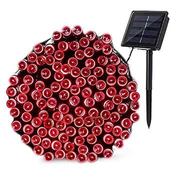 qedertek solar lichterketten au en 22m 200 led rot. Black Bedroom Furniture Sets. Home Design Ideas