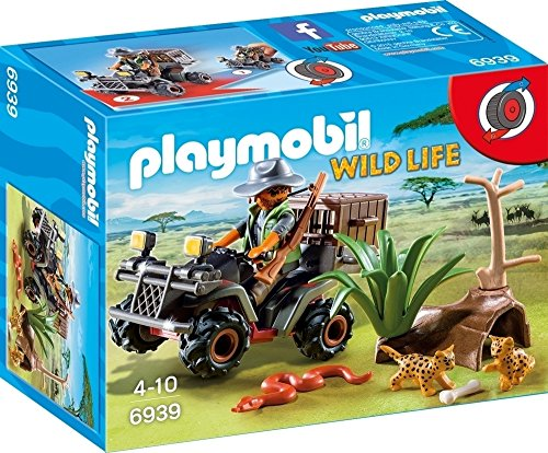 Playmobil Vida Salvaje- Evil Explorer with Quad Playmobil