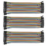 120 pezzi femmina-femmina cavetti per raspberry pi 3 cavetti / cavi arduino / arduino jumper / wire cable/ wire Arduino(3*40 Pin femmina-femmina)