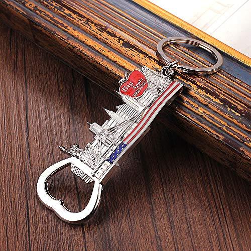 MINTUAN Big Apple Opener Keychain Mit Freiheitsstatue Golden Gate Bridge Schlüsselanhänger Geschenke Souvenir New York Schlüsselanhänger Für Schlüssel