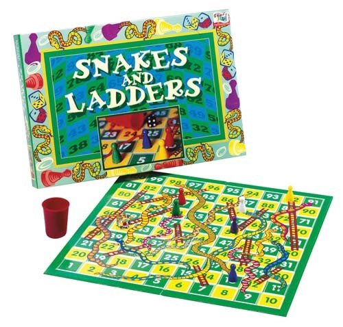 CreativeMinds UK Kids & Adults Snakes and Ladders Traditional Childrens & Family Board Games - Snakes Ladders