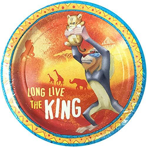 König der Löwen 8 Stück Dessert Teller aus Pappe - Partyteller je ca 17,8 cm Disney The Lion King