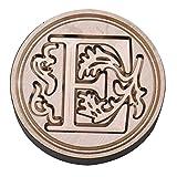 tingtin Alphabet A à Z Cachet Sceau Tampon Bâtonnet Cire Wax Seal Stamp en Laiton et Bois pour Courrier
