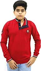 Maxexcel Krazy Gang Boy's Mock Neck Cotton Pullovers