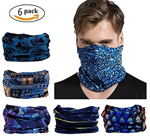 Elastic Multifunctional Headband Sports Seamless Magic Headwear Outdoor Bandana Scarf with UV