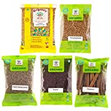 #6: Arya Farm 100% Certified Garam Masala Whole Spice Combo Cinnamon 50g , Coriander 100g, Jeera 100g, Fenugreek ( Methi ) 100g, Mustard ( Rai / Sarson ) 100g ( Whole Spice Combo / Chemicals Free / Pesticides Free / No Added Preservatives / No Genetic Engineering / Total Weight 450g )